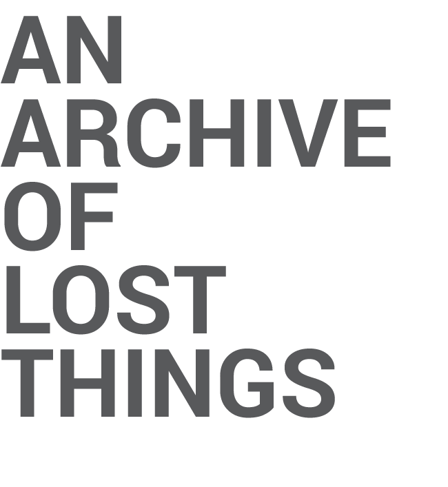 AnArchiveofLostThings
